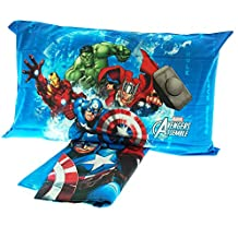 Juego de Cama Colcha Impresión Digital Caleffi Marvel Avengers 100% Algodón