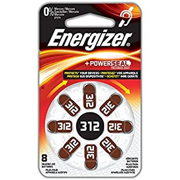 Energizer Size 312 EZ Turn and Lock Hearing Aid Battery