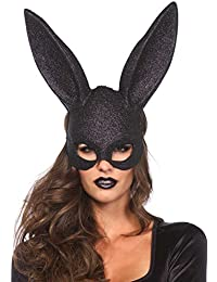 Leg Avenue Masque Lapin à Paillettes Noir Taille Unique