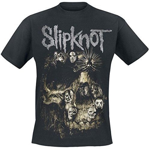 Slipknot Skull Group T-Shirt nero L