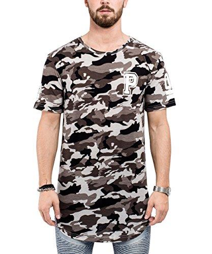 209bb80a3c238b Phoenix Allstar Oversize T-Shirt Herren Longshirt mit 09 Print Longline Tee  Langes Stylisches Shirt