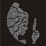 Trenzado Envy Virgo Zodiac Star Sign diamante transferencia hierro en Hotfix Gem cristal diseño de T-Shirt