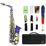 Alt Saxophon Eb mit Koffer/Zubehör blau: Saxophon Oxford-Stoffschaumbox Pickup...