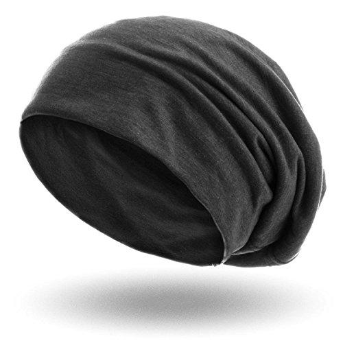 style3-Slouch-Beanie-aus-atmungsaktivem-feinem-und-leichten-Jersey-Unisex-Mtze-FarbeAnthrazit