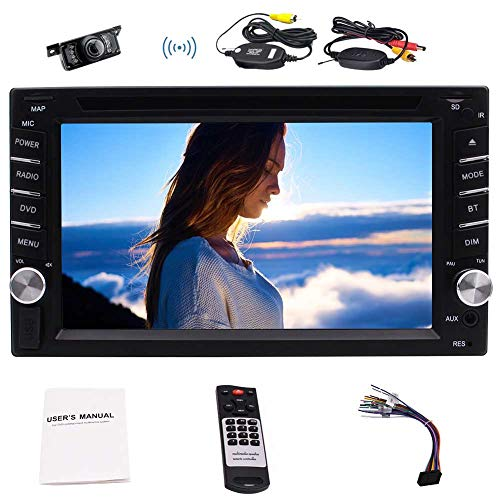 6.2inch Doppel 2Din Autodeck Audio-Steuerger?t Bluetooth GPS in Dash Navigation System-Steuerger?t-Auto-DVD-Player mit MP3 / MP4 / USB / SD mit freiem 8GB GPS Map-Karte & Wireless Rearview-Kamera + F Diagramme Sd-karte