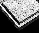 Luxuriöser Infinity Untersetzer mit SWAROVSKI ELEMENTS Kristallen - elegante Tisch-dekoration (1 Stück - transparent) -