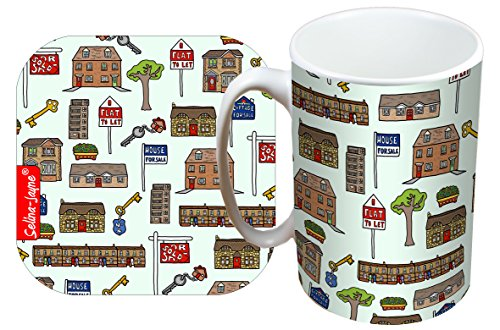 Selina-Jayne Estate Agent Limited Edition Designer Mug and Coaster Set