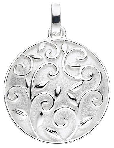 Laimons Premium Damen Anhänger Mandala-Scheibe Platte matt glanz Sterling Silber 925