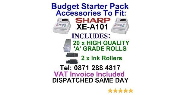 Sharp XE-A101 Cash Register Rolls XEA-101 XEA101 XE A 101 TILL ROLLS