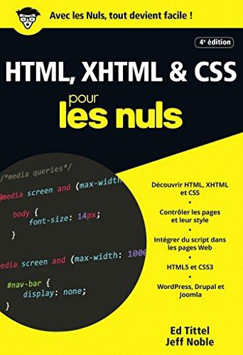HTML, XHTML et CSS pour les Nuls poche, 4e édition (POCHE NULS) par Ed TITTEL