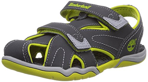 Timberland Active Casual Sandal_Adventure Seeker CT Sandl, Unisex-Kinder Sandalen, Grau (Dark Grey/Green), 34 EU