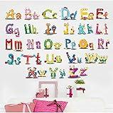 ZBYLL Wall Sticker Puzzle frühe Bildung Kindergarten Englisch Lernen Buchstaben grünen Aufkleber