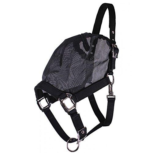 QHP Hafter Fliegenschutzmaske Combi schwarz feinmaschig 3 Größen (Warmblut)