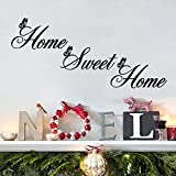 "Home 2015 New ""Home Sweet Home"" Wall Quote Sticker Wall Decals Mural Art Lounge(Black)"