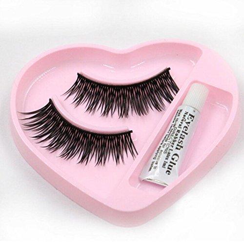 Hot Faux cils. Xshuai (TM) 1 paire naturelles longue épais faux cils étanche extension dense volumineux cils Charme Maquillage Femme noir noir
