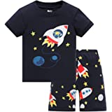 HIKIDS - Pijama Corto para niño - Pijamas de Manga Corta Verano para Niños - Pijama Dos Piezas - Pijamas de Manga Corta para