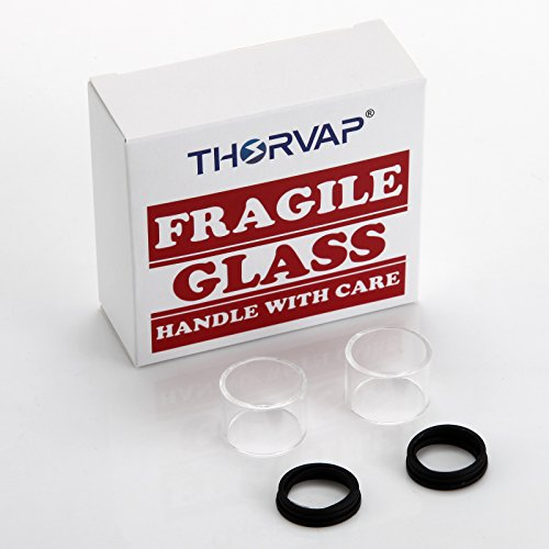 THORVAP® Tubo di Vetro Pyrex adattarsi THORVAP IBOX TC 60W Originale iBOX Atomizzatore (2 ml). No Nicotina -(iBOX Glass Tube) (Trasparente)