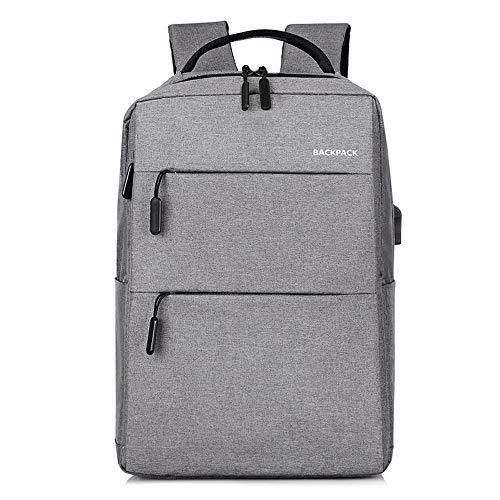 (YNPGHG 15,6-Zoll-Laptop-Rucksack, Laptop-Rucksack wasserdicht und Anti-Diebstahl-Schule/Business-Rucksäcke für Frauen & Männer,Gray)