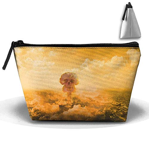 Explosion Skull,Portable Phone Coin Storage Trapezoidal Toiletry Pouch,Makeup Travel,Cosmetic Bag Wash Bag -