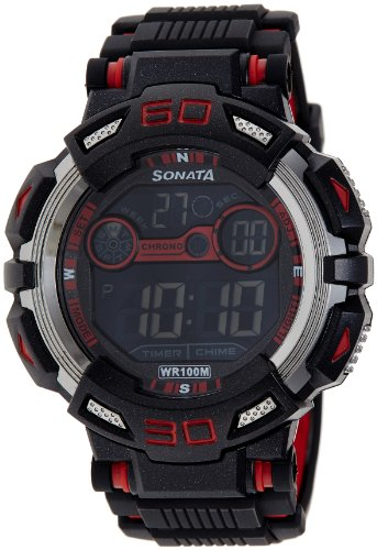 Sonata Ocean Series II Digital Black Dial Men's Watch - 77009PP01J image