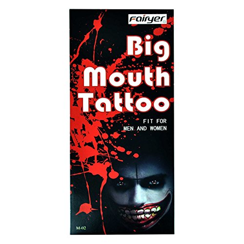 Gifts 4 All Occasions Limited SHATCHI-1417 - Tatuaje temporal para Halloween, diseño de zombies M-02, multicolor