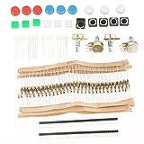 Akozon Elektronische DIY Komponenten Starter Kit Schalter Tasten Potentiometer LED-Widerstände für Elektronische Enthusiasten