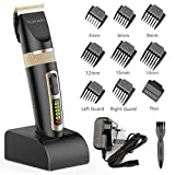 Hair Clippers,Romanda Clippers for Men Hair Trimmer Cordless Rechargeable Hair Clipper Electric Beard