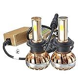 Ourmall H7 LED Scheinwerfer-Set,2 Stück, 120W 6000K 12000Lumen, COB LED Leuchtmittel KFZ-Lampe, goldfarben