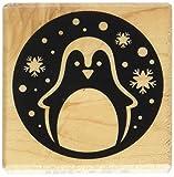 Artemio Stempel, Motiv Pinguin im Kreis, aus Holz