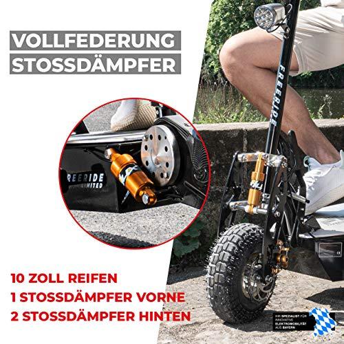E-Scooter Roller Original E-Flux Freeride 1000 Watt 48 V mit Licht und Freilauf Elektroroller E-Roller in vielen Farben (Limited Gold) - 7