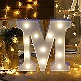 Igemy Alphabet Buchstaben Lichter LED leuchten weiße Kunststoff Buchstaben stehend hängen A-Z (M)