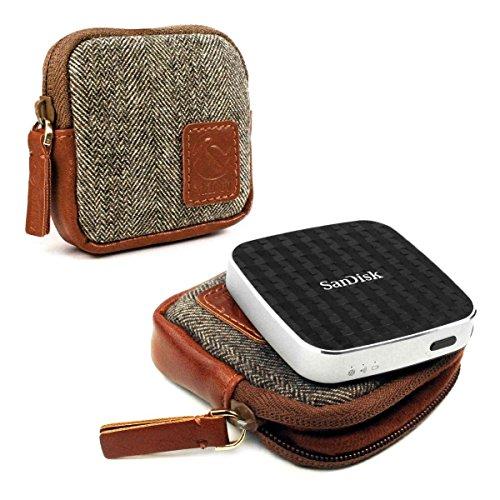 tuff-luv-herringbone-tweed-travel-case-for-sandisk-connect-wireless-media-drive