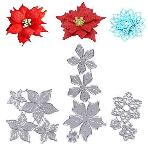 biglietti argento goffratura per fai da te Fustelle in metallo a forma di fiore scrapbooking stencil