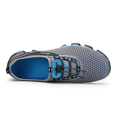Univers Land Hommes Chaussures de course à pied - Chaussures respirantes à sec rapide Chaussures de sport Chaussures de sport Gris
