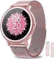 AIMIUVEI Smartwatch Donna 1.28 Pollici, Orologio Fitness Donna IP68 con 24 Modalità Sportive Smart Watch Cardi