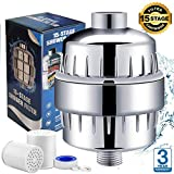 15 Stage Shower Filter for Hard Water - Shower Head Filter Remove Chlorine