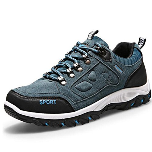 Men's Anti Slip Breathable Waterproof Outdoor Hiking Shoes blue