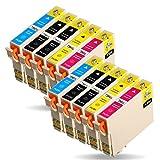 Azprint 10er Set Kompatibel Epson 29XL Druckerpatronen Hohe Kapazität mit Chip für Epson XP-235 XP-245 XP-332 XP-335 XP-342 XP-432 XP-435 XP-442 XP-445 XP-247 XP-345 Drucker | 4 Schwarz, 2 Blau, 2 Rot, 2 Gelb