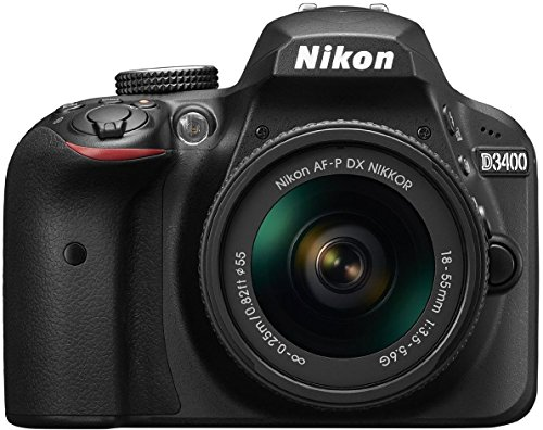 Nikon D3400 24.2 MP Digital SLR Camera (Black) + AF-P DX Nikkor 18-55mm f/3.5-5.6G VR Lens Kit + Memory Card + Camera Bag