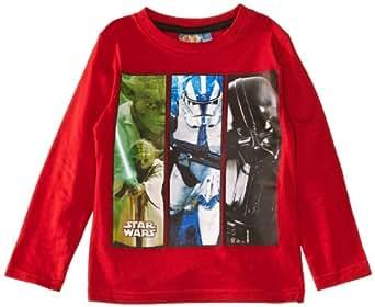 Disney Boys Star Wars EN1232 Long Sleeve Top, True Red, 3 Years