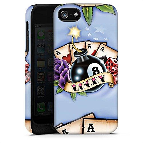 Apple iPhone X Silikon Hülle Case Schutzhülle Karten Glück Würfel Tough Case matt