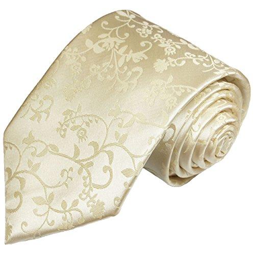 Cravate de mariage homme champagne floral 100% soie