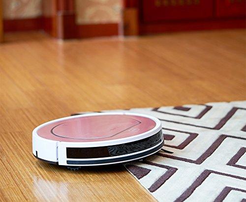 ILIFE Robot ILIFE V5s Pro Saugroboter mit Wischfunktion/81mm flach/Für alle Böden/Über 2 Stunden Laufzeit/Staubbehälter 450ml/Wassertank 300ml/2in1 nass Wischen oder Staubsaugen/Ladestation, Luxury Gold