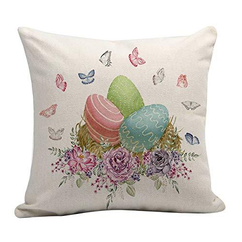 Alextry Cuscino di Lino di Pasqua Modello di Uovo di Coniglio Felice Arredamento Divano di Pasqua