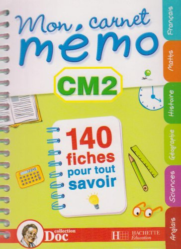 Mon carnet mémo CM2