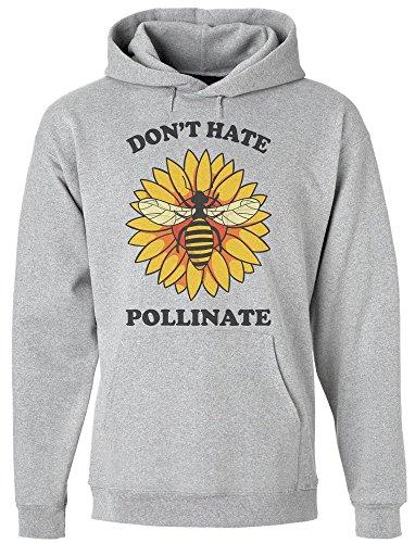 Don't Hate Pollinate Bee On A Flower Kapuzenpulli für Herren Medium