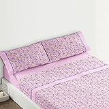 Burrito Blanco - Juego de sábanas 435 para cama 120x190/200 cm, color rosa
