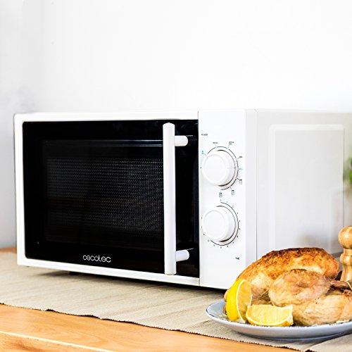 comprare on line Forno a Microonde bianco con grill, input 1200 W, output 700W, grill da 900W, 20 l, 9 livelli, Cecotec Grill prezzo
