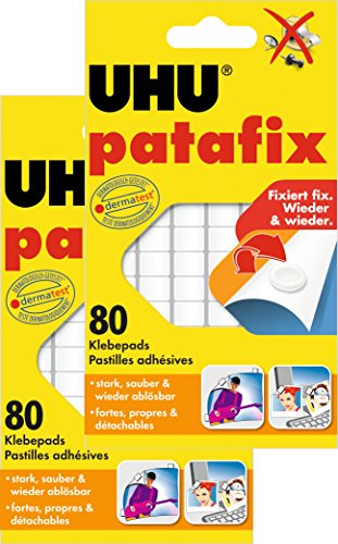 UHU 1648810 - Quadratini in pasta adesiva Patafix, 160 pezzi, colore: bianco
