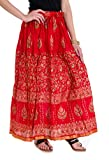 ooltah chashma Cotton Gold Printed long ...